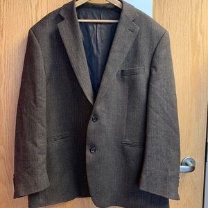 Lauren brown herringbone sport coat, men's XL